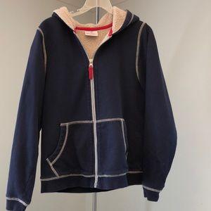 Hanna Andersson Fleece-lined hoody  in size 140